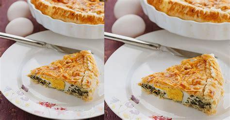 Tartë e kripur me spinaq dhe vezë - Pjata kryesore