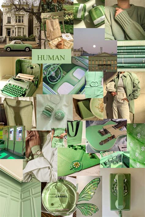 green x collage green wallpaper aesthetic