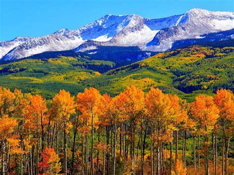 autumn colorado fall snowy mountains nature landscape hd