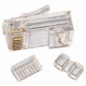 Fiche Rj45 Cat 6 : cat 6 8 position rj45 stranded modular crimp plug 10 pack ~ Dailycaller-alerts.com Idées de Décoration