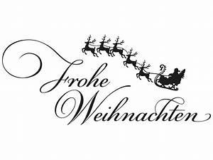 Weihnachtsmotive Schwarz Weiß : wandtattoo frohe weihnachten mit rentieren ~ Buech-reservation.com Haus und Dekorationen