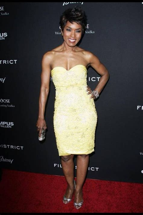 actress angela bassett giving great face  toned body