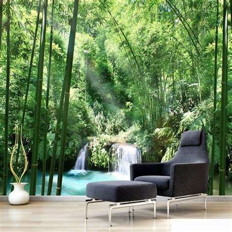 custom  wall murals wallpaper bamboo forest natural