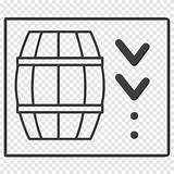 Whiskey Barrel Clipart Outline Whisky Transparent Tags sketch template
