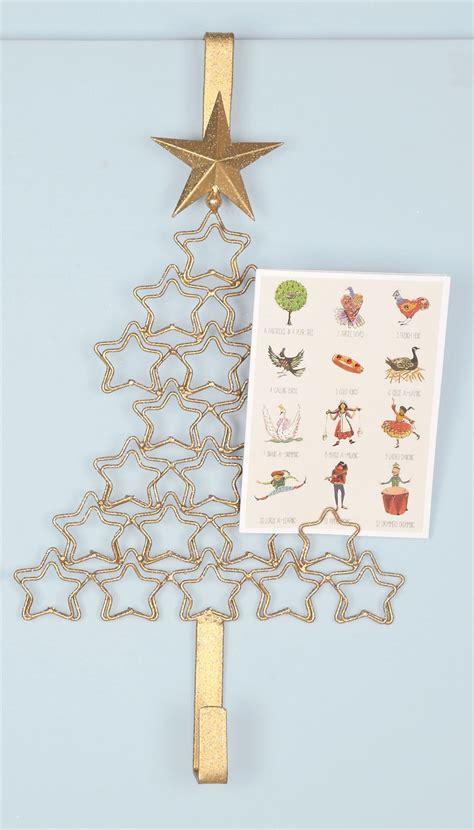 metal 25 5cm christmas freestanding display tree wreath card holder hanger ebay