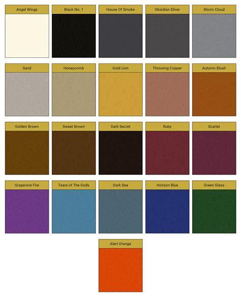 obsidian color chart pure metallic complete metallic coating kit custom