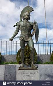 Statue of Leonidas, legendary ancient Spartan warrior king ...
