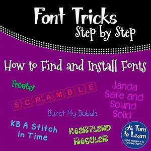 How To Find And Install Cute Fonts