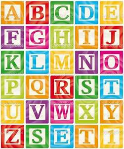 baby blocks babies and alphabet letters on pinterest With blocks with letters on them