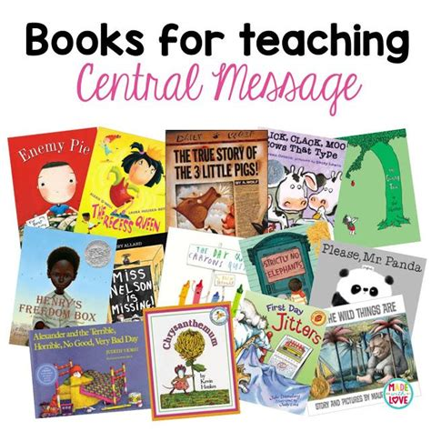 Books For Teaching Central Message  Classroom Library