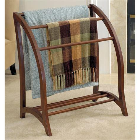 wooden blanket rack winsome wood blanket rack antique walnut ca home