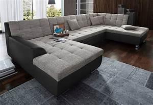 Sofaüberwurf Für Xxl Sofa : xxl wohnlandschaft wahlweise mit bettfunktion otto ~ Bigdaddyawards.com Haus und Dekorationen