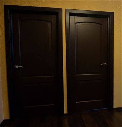 wooden interior doors painted with black paint