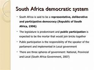 Democracy in South Africa: The role of eParticipation