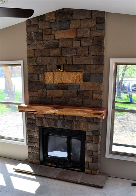 wood fireplace mantel surround  unique reclaimed wood
