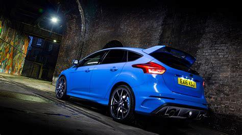 wallpaper ford focus rs hatchback blue night cars
