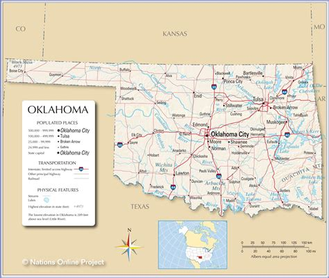 reference maps  oklahoma usa nations  project
