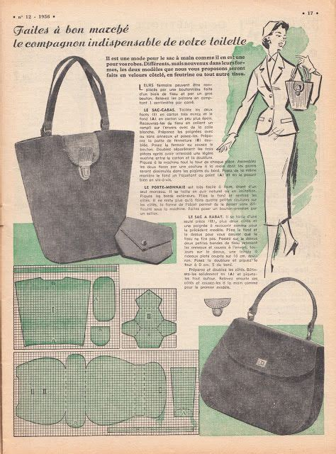 vintage purse patterns   vintage sewing pinterest vintage purses patterns