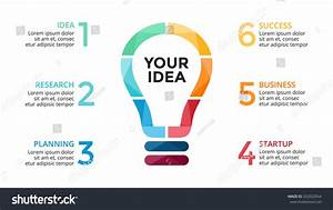 Vector Light Bulb Infographic Study Diagram Stock Vector