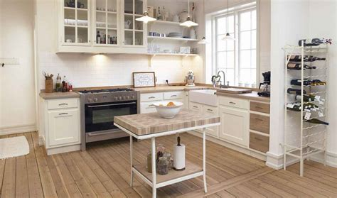 Simple Small Country Kitchen Decor With All White Interior