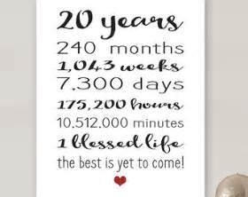 personalize wedding gifts 20 year anniversary etsy