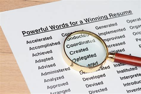 Strong Resume Power Words by Top 100 Most Powerful Resume Words Bhatkallys