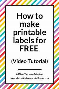 how to make printable labels for free using canva video With what kind of paint to use on kitchen cabinets for address label stickers