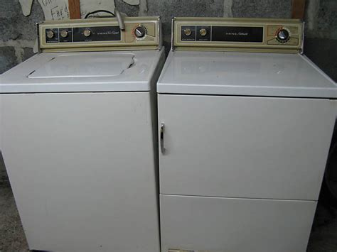 used washers and dryers bol ge filter flo and hotpoint machines from the 1970s and