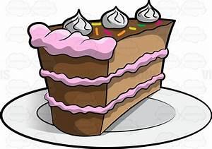 A Piece Of Cake Cartoon Clipart - Vector Toons