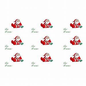 Santa Gift Tags Template   New Calendar Template Site