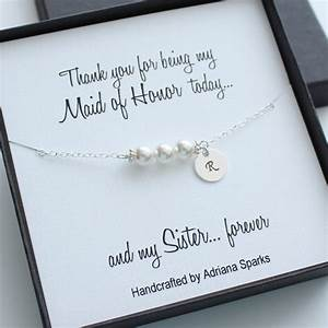 personalized maid of honor gifts personalized pearl With wedding gift from maid of honor