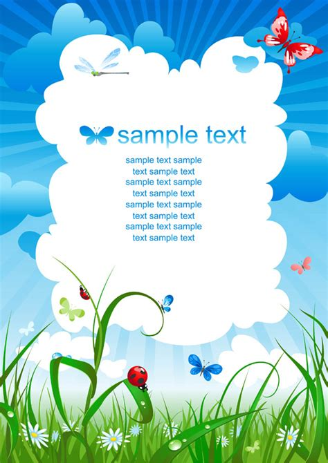 summer camp flyer template summer theme card background vector free vector 4vector