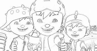 Mewarna Gambar Coloring Colouring Boboiboy Printable Kartun