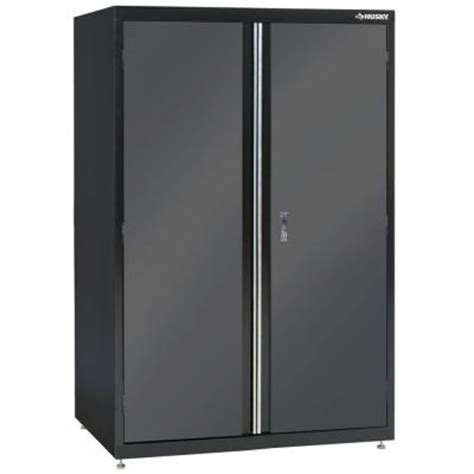 home depot metal cabinets husky 72 in h x 46 in w x 24 in d welded steel floor