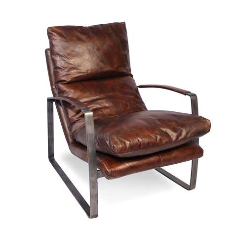 sessel braun leder sessel in patina vintage braun leder und metall sechziger