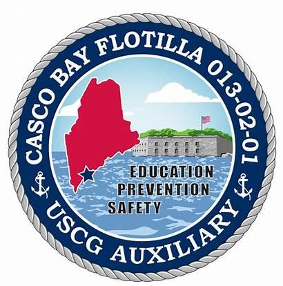 Guard Coast Flotilla Auxiliary Emblem Casco Bay