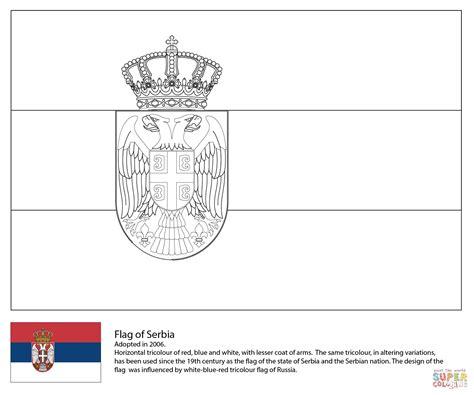 Desenho De Bandeira Da Srvia Para Colorir Desenhos Para