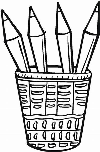 Pencils Pencil Clipart Colored Clip Coloring Bucket