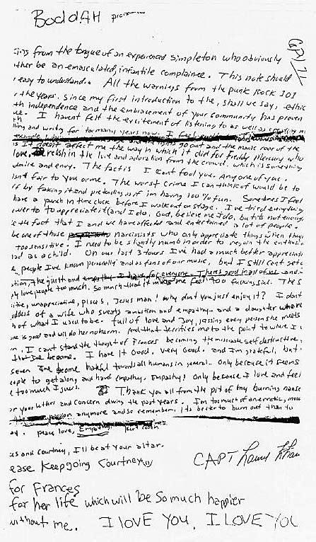 kurt cobain letter kurt cobain s debates discussion gtaforums 31427