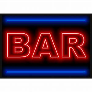 Transparent Neon Bar Reverse Search