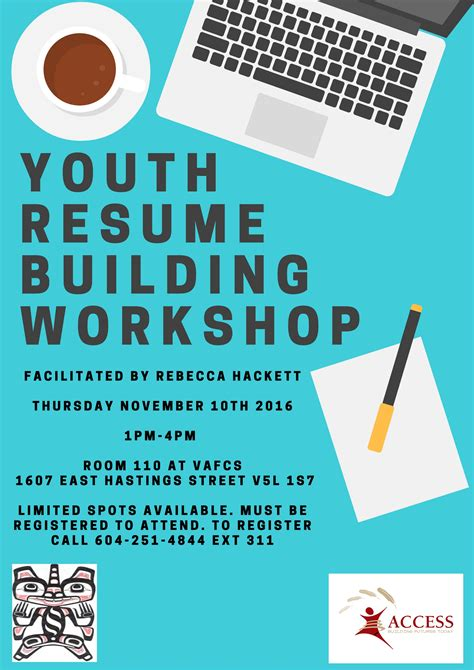 Vancouver Resume Workshop by Recreation Vancouver Aboriginal Friendship Centre Society