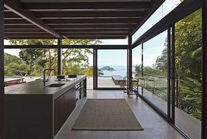 Modern, Oceanfront, House, Is, All, Concrete, Wood, Glass, And, Views
