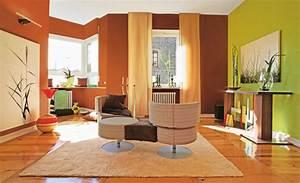 wie farben die raumproportionen verandern wohnen deko With markise balkon mit tapeten ideen wohnzimmer beige