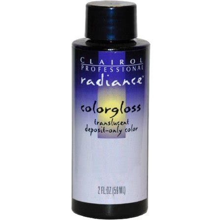 clairol radiance color gloss clairol radiance colorgloss semi permanent hair color