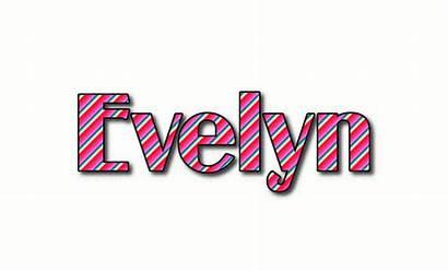 Evelyn Text Logos