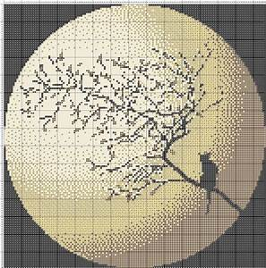 Free Cross Stitch Pattern Moon Cat DIY 100 Ideas