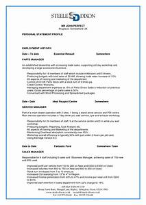 perfect resume resume cv example template With free perfect resume