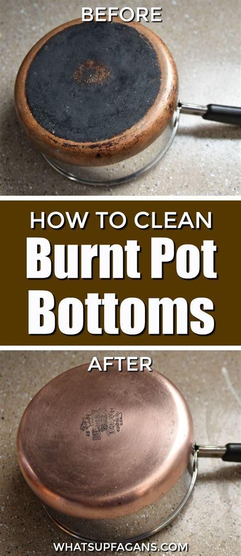 clean  bottom  burned pot  easy  clean burnt pots cleaning hacks clean