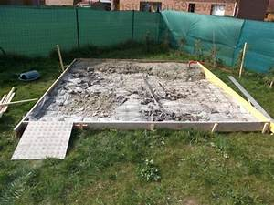 abri de jardin sur dalle beton