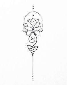 Image result for unalome lotus flower meaning | Tattoo designs, Lotus tattoo, Flower tattoo designs